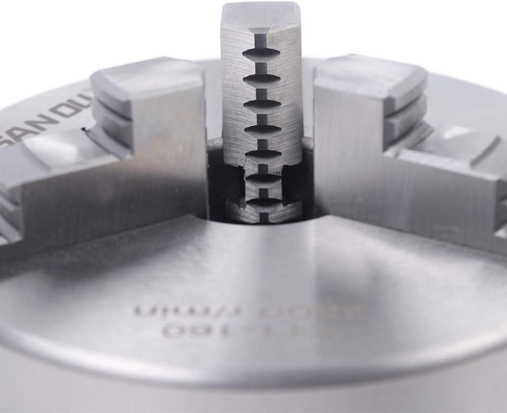 N-A K11-160mm Tornio a mandrino a 3 Griffe di precisione Tornio a mandrino a Tre Griffe per tornitori di Legno