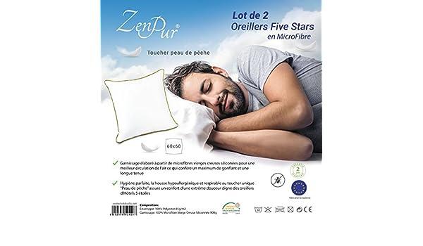 ... Hotel 5 Estrellas - Cojín Almohada Hipoalergénica, Transpirable y Anti Ácaros - Alivia Dolor de Cuello y Cabeza - Tamaño 60 x 60: Amazon.es: Hogar