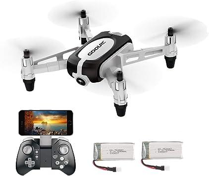 Opinión sobre GoolRC T700 Mini Drone RC WiFi FPV 3D Flips Cámara 720P HD Camara Selfie Drone Quadcopter Altitude Hold G-Sensor 2 Baterías para Principiantes Niños
