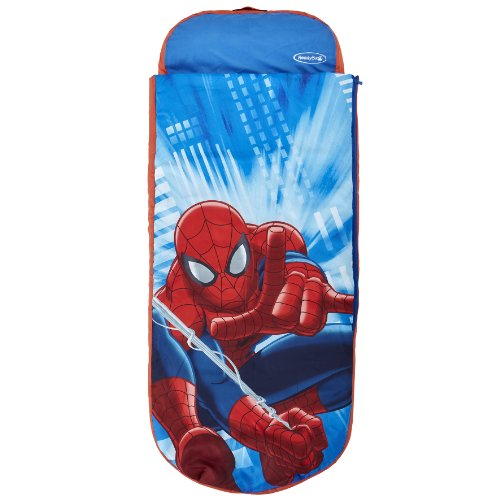 Marvel Spider-Man Junior ReadyBed - Inflatable Kids Air Bed and Sleeping Bag in one