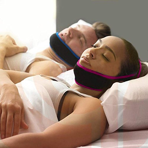 All-New Powerfully Effective Pack of 2 Adjustable Anti Stop Snoring Chin Strap Sleeping Aid Device for Both Men and Women