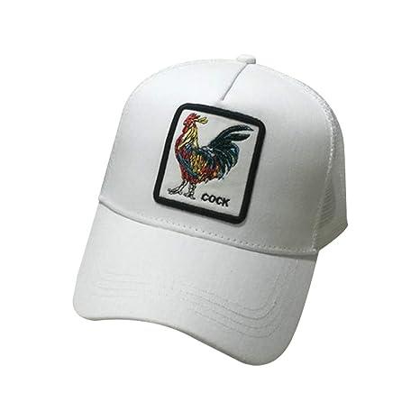 JOYKK Parejas Gorra de béisbol Animales Parche Bordado Hip Hop Malla  Patchwork Ajustable Snapback Trucker Hat 685c2a96754