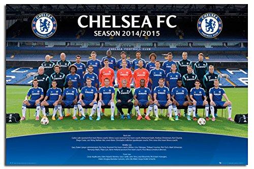 Chelsea FC Team Photo 2014 / 2015 Poster Satin Matt Laminated - 91.5 x 61cms (36 x 24 Inches)