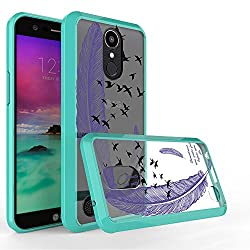 LG K20 V Case, LG K20 Plus Case, LG V5 Case, LG K10 2017 Case,Harryshell Anti-Scratch Shockproof Ultra Slim Clear Hard Cover Flexible TPU Bumper Case for LG K20V/ K20 Plus / LV5 / K10 2017 (Feather A)