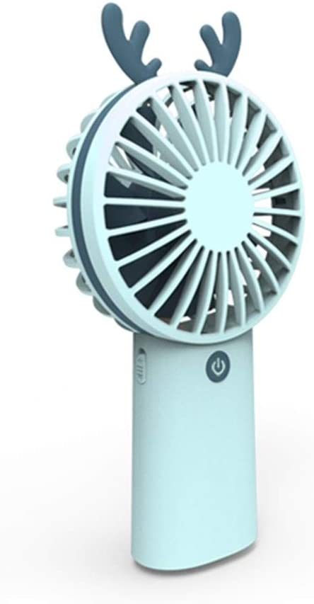 Color : Blue Yougou01 Fan Portable Office Refreshing Style Summer Student Handheld USB Charging Fan 8.84.518.3cm//3.521.87.32 Inches, White//Pink//Blue//Brown