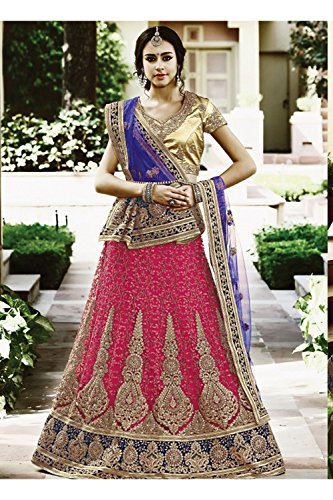 Da Facioun Indian Women Designer Wedding pink Lehenga Choli K-4883-43355