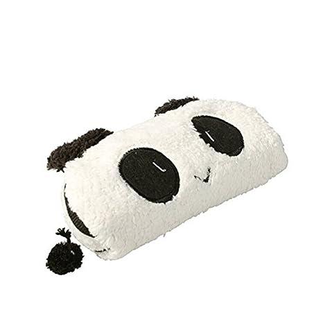 Lumanuby Estuche con diseño de panda de peluche, blanco, para guardar material de oficina, también como funda para guardar pequeñas cosas o artículos ...