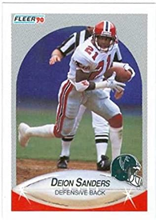 Amazoncom Deion Sanders Football Card 1990 Fleer 382