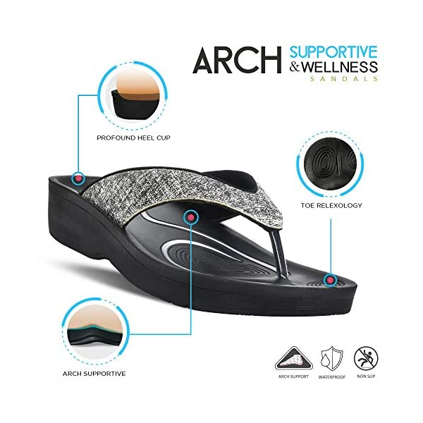 AEROTHOTIC Original Orthotic Comfort Thong Sandal and Flip Flops with Arch Support for Comfortable Walk