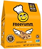 Nut Free Gluten Free Granola Bars, FreeYumm Chocolate Chip Oat Bars, School Safe Allergen Free Snacks for Kids, 15 Count