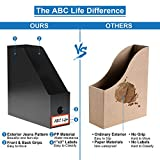 ABClife Plastic Foldable Black Magazine File
