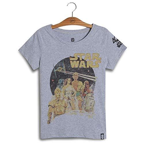 Camiseta Feminina Star Wars Old Poster 40Th