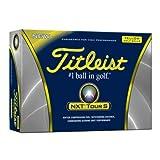 Titleist NXT Tour S Yellow Golf Balls – 1 Dozen, Outdoor Stuffs