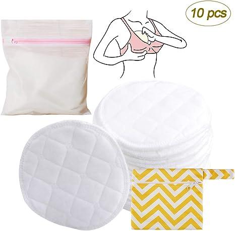 ZEVONDA 10 Piezas/5 Pares Protector Para Lactancia Lavables De ...