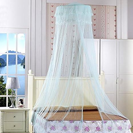 Moustiquaire Ronde, Ishua Moustiquaire Chambre d'Enfant Effet lit en Baldaquin Princesse Moustiquaire au Plafond (violet)