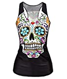 LeNG New Fashion Star Vest Womencute Hip hop Blouse,Flowers,Average Code