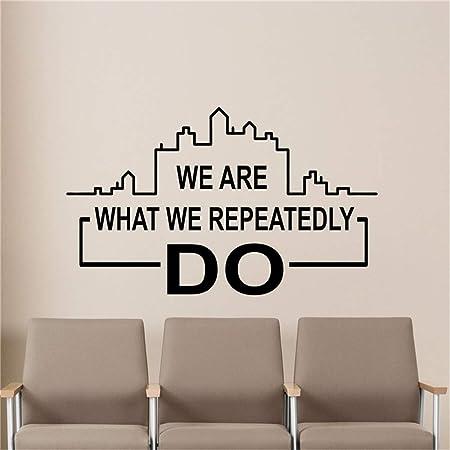 yiyiyaya Somos lo Que repetidamente Hacemos Adhesivos de ...
