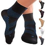 TechWare Pro Ankle Brace Compression Socks - Plantar Fasciitis Pain Relief Sock