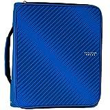 Five Star 2 Inch Zipper Binder, 3 Ring Binder, 6-Pocket Expanding File, Durable, Blue (72534)