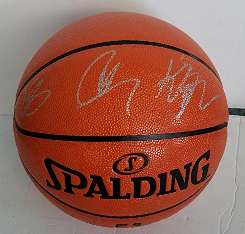 Stephen Curry, Kevin Durant & Klay Thompson Signed Basketball