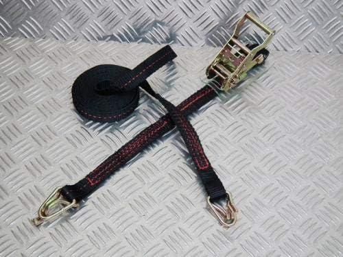 フリーク ラチェット式ブラックベルト荷締め機 フック&キーパー3ton 幅35mm×長さ0.5+4.5m