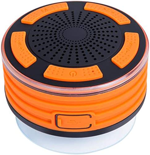 Waterproof Bluetooth Speaker, Yapeach Portable Wireless Music Player with Stereo Sound FM for Shower Party Home Outdoor Orange