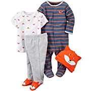 Carter's Baby Boys' 4 Piece Sets, Fox 2, 3 Months