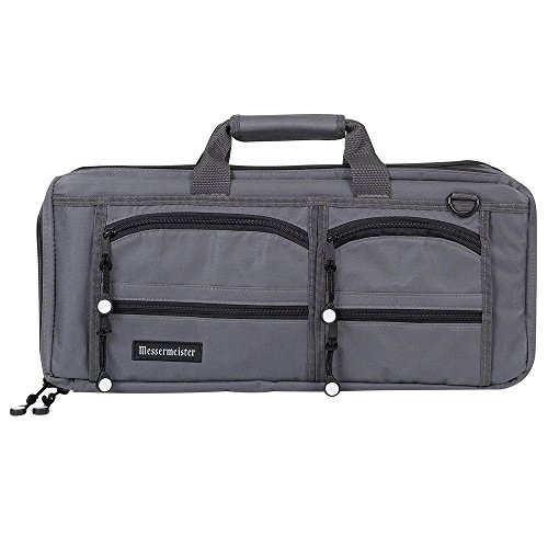 Messermeister 18 Pocket Meister Chef Knife Bag, Gray