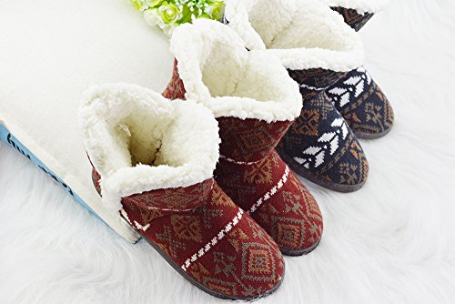 VLLY Fuzzy Plush Slippers Fur Outdoor Brown Lining Booties Womens FBA Indoor aXqxrRwXT