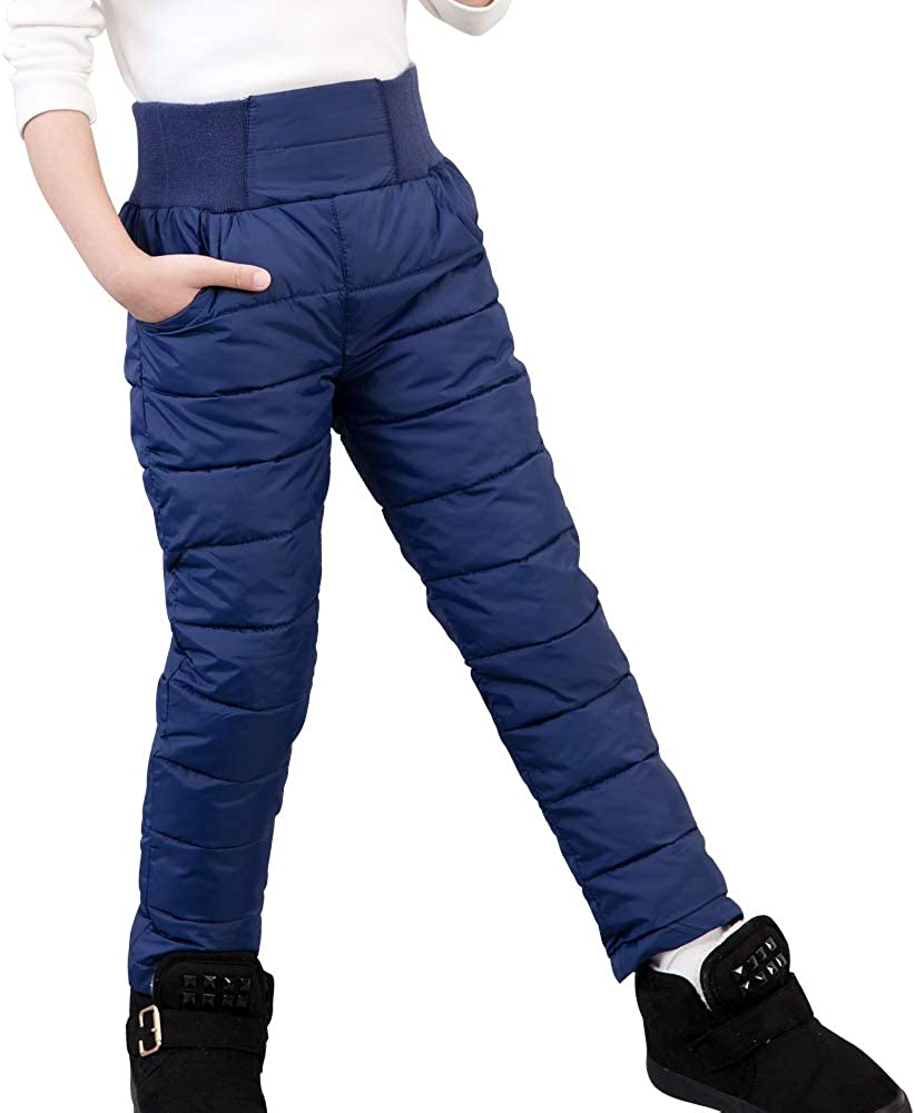 A0001Red-2T CNMUDONSI Boy Thick Warm Pants Trousers Girl Winter Children Clothing