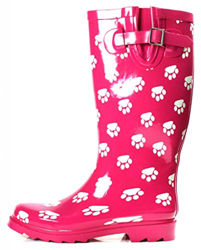 High Womens Midcalf Pink Rubber Rainboots Knee w4x4rq