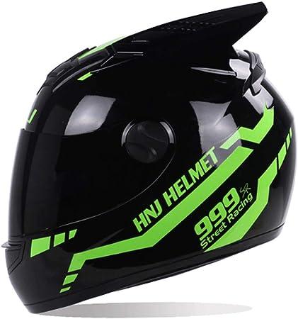 Kkmoon Integralhelm Helm Motorradhelm Dot Zugelassen Für Den Schutz Der Sicherheit Beim Motorradrennen Hellgrün Mit Sonnenblende Auto