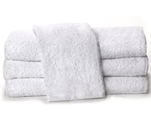 """Towels by Doctor Joe White 15"""" x 25"""" China Soaker, Pack of 12"""