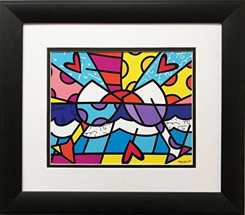 Romero Britto Cheers Wine Framed Art Print