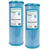 Guardian Filtration Products Guardian Antimicrobial 2 Pack Pool Spa Filter Replaces Unicel 4CH-949 FC-0172 FC0172 PWW50L Rising Dragon Microban