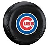 Fremont Die Chicago Cubs Black Tire Cover - Size Large