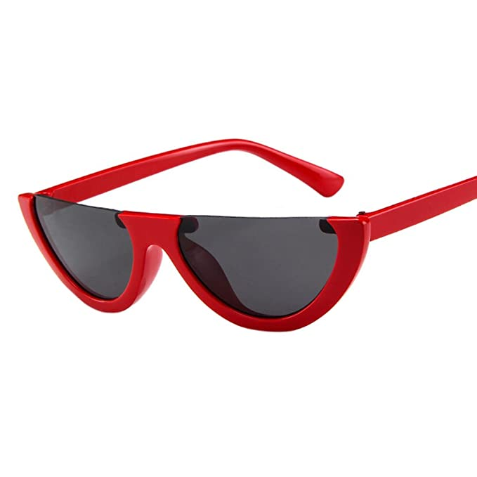 BEESCLOVER Fashionable Unique Half-frame Sunglasses Street Snap Party Eyewear Birthday Gift Ornament