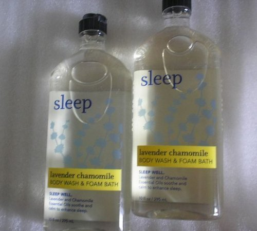 Body Wash Foam Bath (Lot of 2 Bath & Body Works Aromatherapy Sleep Lavender Chamomile Body Wash & Foam Bath)