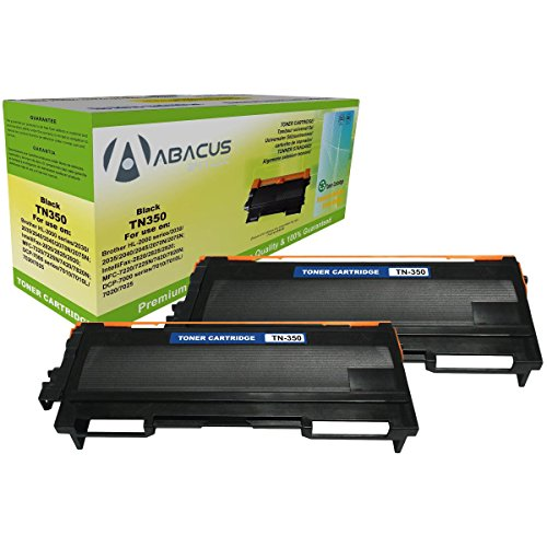 Abacus24-7 Compatible Brother TN-350 Toner Cartridge for DCP-7020, HL-2040, HL-2070, MFC-7820 and other Printers, Set of 2