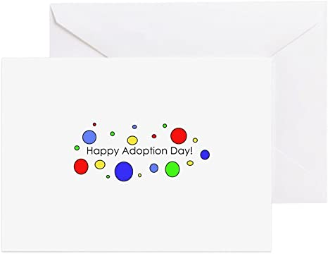 Amazon.com: CafePress – feliz día de adopción – Tarjeta de ...