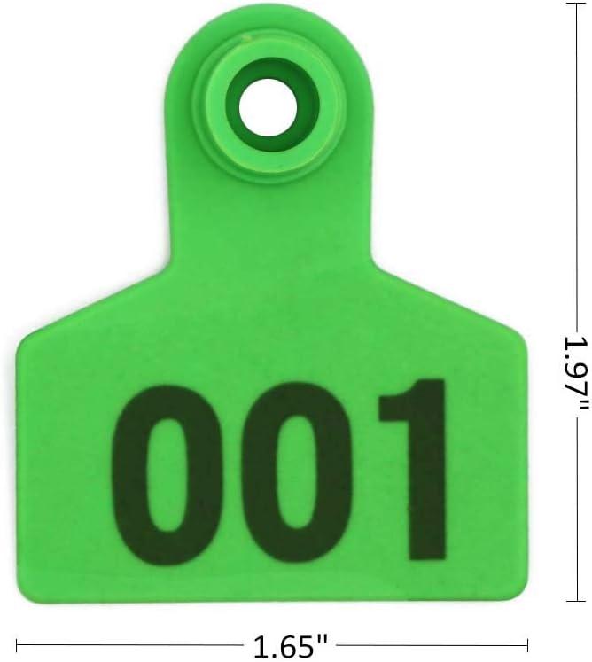 M.Z.A Ohrmarken Schweinchen aus Kunststoff mit Nummer 001-100