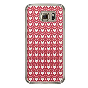 Loud Universe Samsung Galaxy S6 Love Valentine Printing Files A Valentine 108 Printed Transparent Edge Case - Red/White