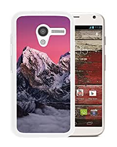 New Beautiful Custom Designed Cover Case For Motorola Moto X With Nature Snowy Mountains Red Sky (2) Phone Case