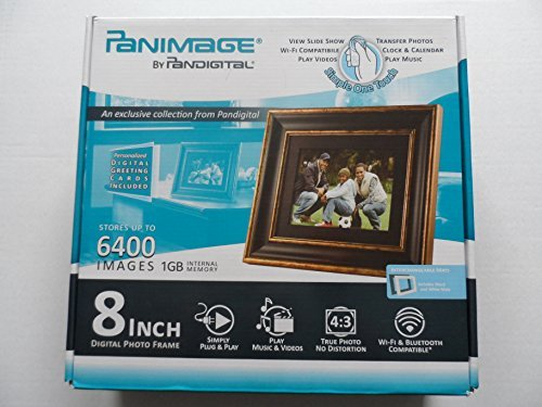 Panimage By Pandigital 8 Inch Digital Photo Frame With Remote