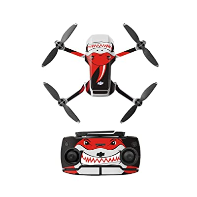 Anbee Waterproof Decal PVC Skin Decorative Stickers for DJI Mavic Mini Drone (Red Shark): Computers & Accessories