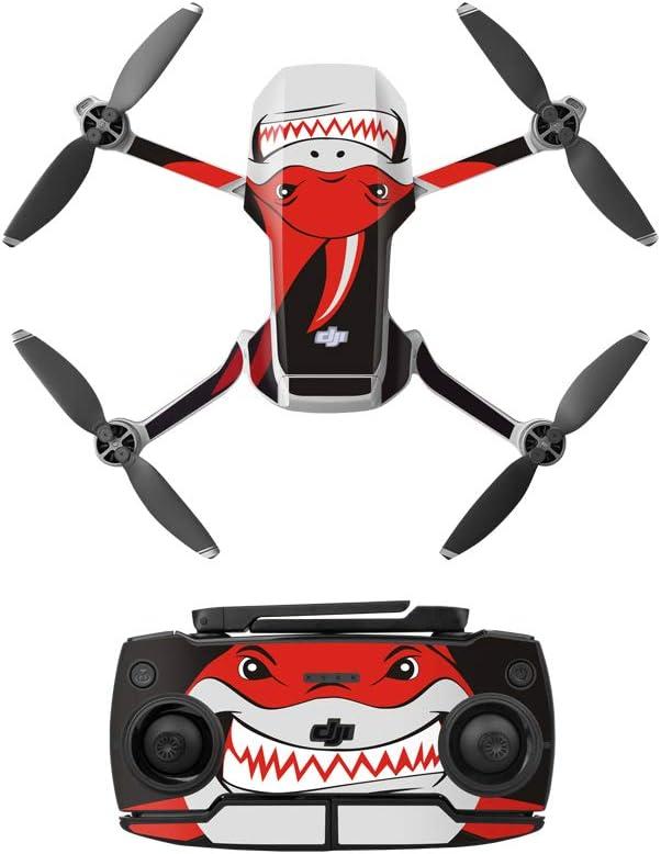 Anbee Waterproof Decal PVC Skin Decorative Stickers for DJI Mavic Mini Drone Red