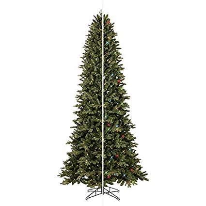 ge 9 ft pre lit aspen fir slim artificial christmas tree with 700 color