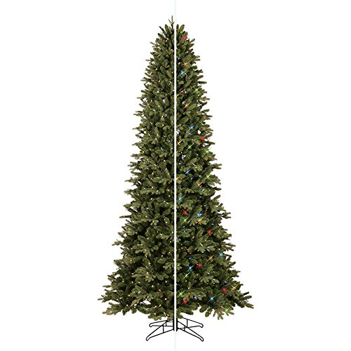 GE 9-ft Pre-lit Aspen Fir Slim Artificial Christmas Tree with 700 Color Changing Warm White LED - Lit Color Led Pre