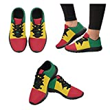 Honey Day House Custom African Flag Fashion Comfortable Sports Running Shoes For Sale