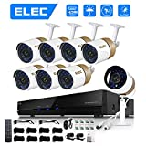 ELEC 8CH HDMI 960H DVR 1500TVL Outdoor Indoor Day Night IR-CUT CCTV Surveillance Home Video Security Camera System ,8 Weatherproof Cameras 1.0MP, 65ft Night Vision, No Hard Drive